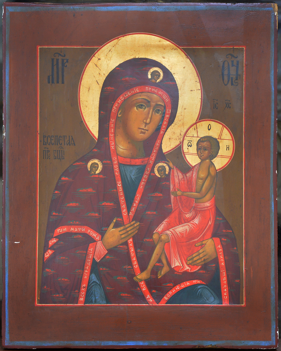 Sacred, Orthodox Icon: Tikhvin (The Mother of God; Russian Federation)