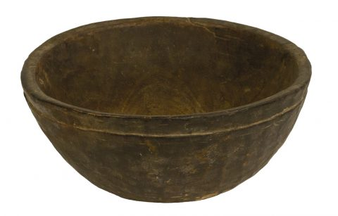 Wooden Milking and Serving Bowl (Yoruba People, Federal Republic of Nigeria)